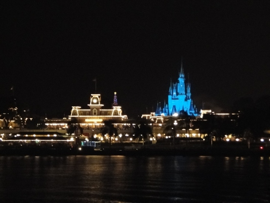 Vista da balsa Magic Kingdom Orlando