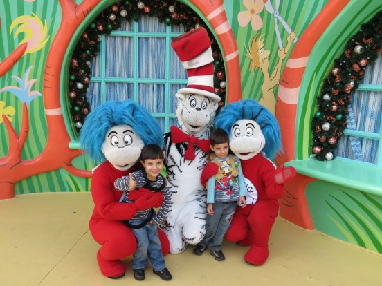 The cat in the hat, Thing 1 e Thing 2 Island of Adventure Orlando
