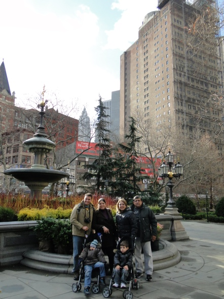 City Hall Park CIty Tour ônbus panorâmico 2 andares por Downtown Manhattan New York