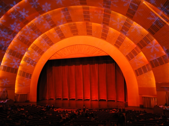 Palco Radio City Music Hall Christmas Spectacular New York