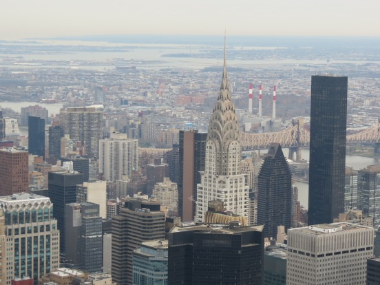 Chrysler Building visto do Empire State Building New York