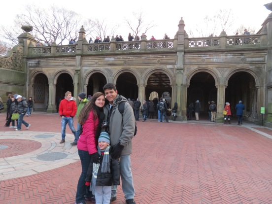Vista de baixo da Bethesda Fountain Central Park New York