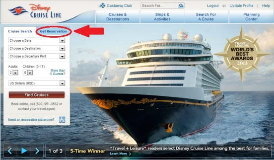 Disney Cruise Line  reservas antes do embarque