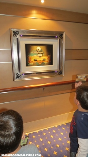 Quadro/tela com pistas do jogo Disney Dream, Disney Cruise Line