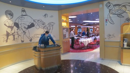 Entrada do Animator Palate Conhecendo o Disney Dream