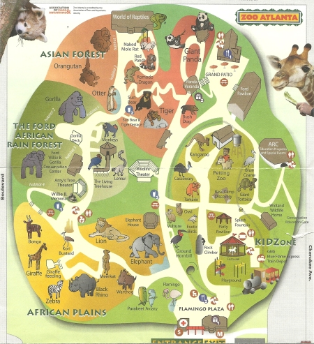 Mapa ilustrativo do Zoo Atlanta