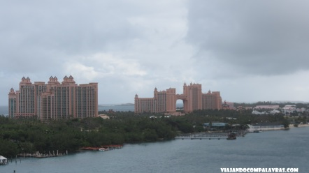 Atlantis visto do navio, Nassau, Disney Cruise