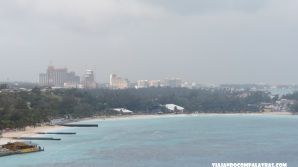 Junkanoo Beach em Nassau vista do navio