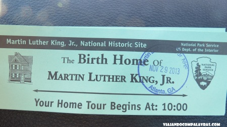 Ticket para o Birth Home tour Martin Luther King Historic Site, Atlanta
