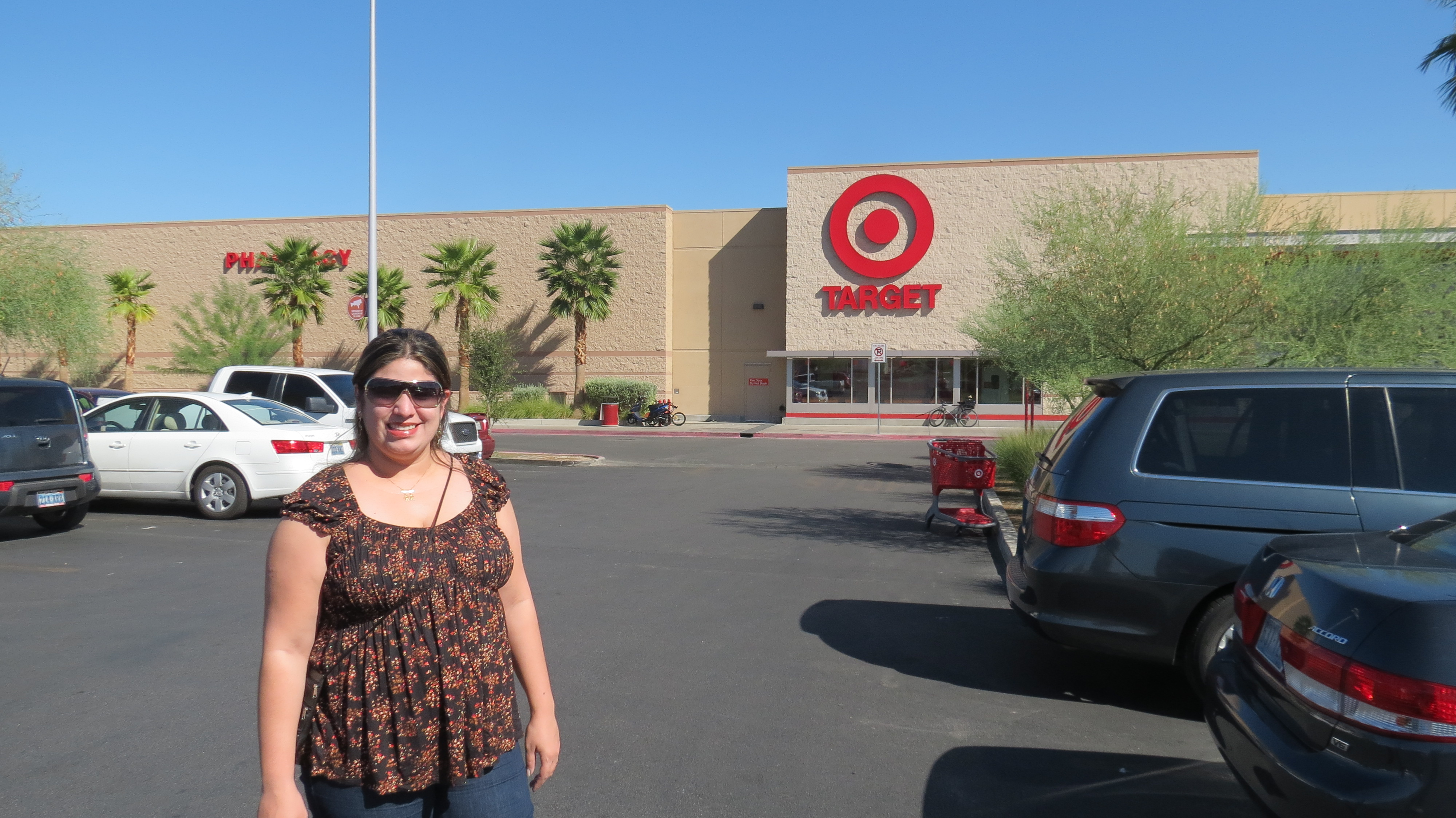 This Target store almost exactly 2 miles away from the Las Vegas Strip at a strip mall called the Maryland Crossing Shopping Center. To be exact, it is .