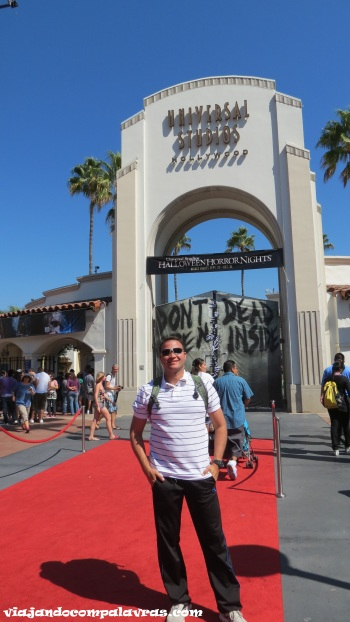 Pórtico de entrada do Universal Studios Hollywood, Califórnia