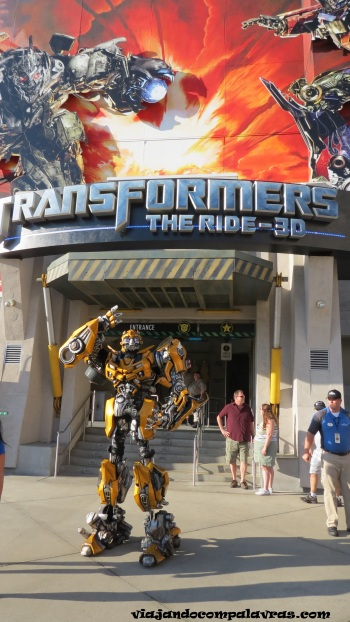 atração transformers no Universal Studios Hollywood