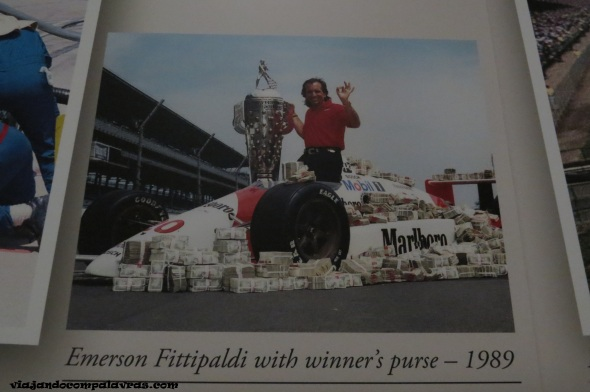 Emerson Fittipaldi no Hall of Fame no Indianapolis Motor Speedway
