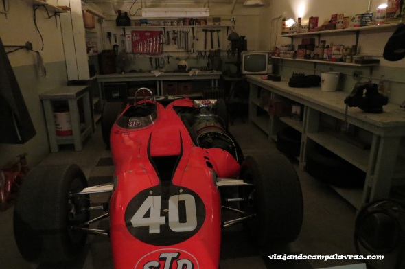 Garagem no Hall of Fame no Indianapolis Motor Speedway
