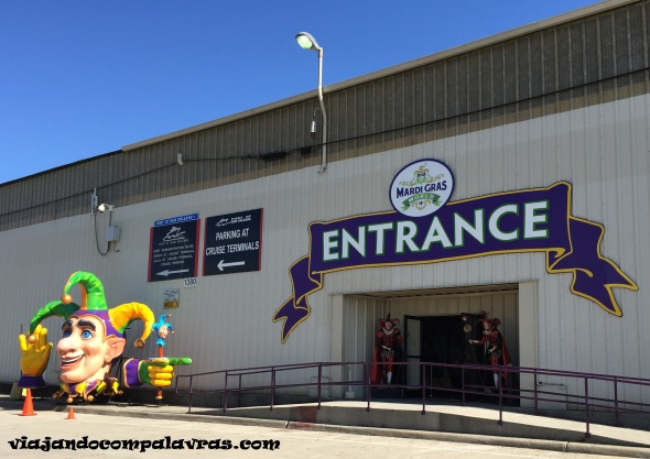 Entrada do Mardi gras world tour
